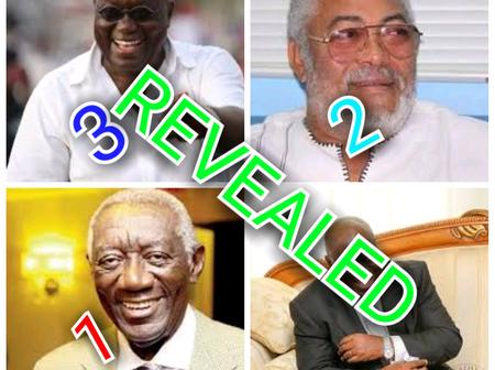 Top Three(3) Best Presidents In Ghana From 1957 Till Date (Opinion)