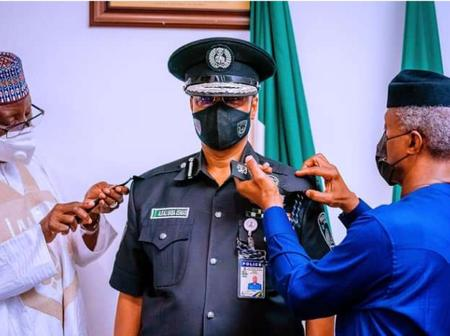 Check Out How Vice President Osinbajo Decorated The Acting IGP [PHOTOS]