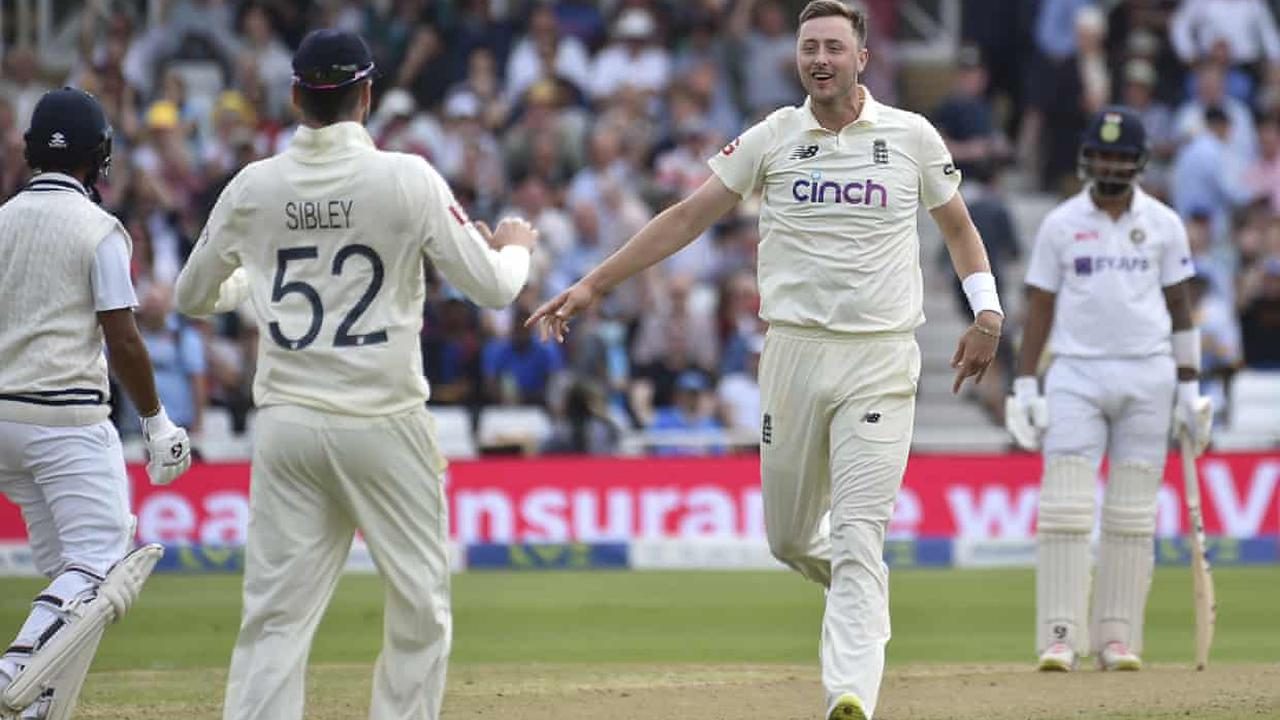 Ollie Robinson gets 'up and about' India with his second Test chance