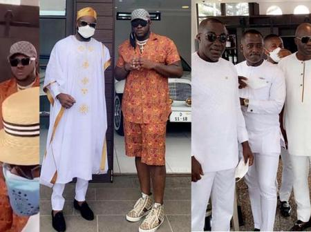 Medikal Meets Rich Man Osei Kwame Despite At Kency's Baby Ceremony