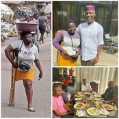 Amputee Girl Hawking Pure Water Dines With A Rich Man