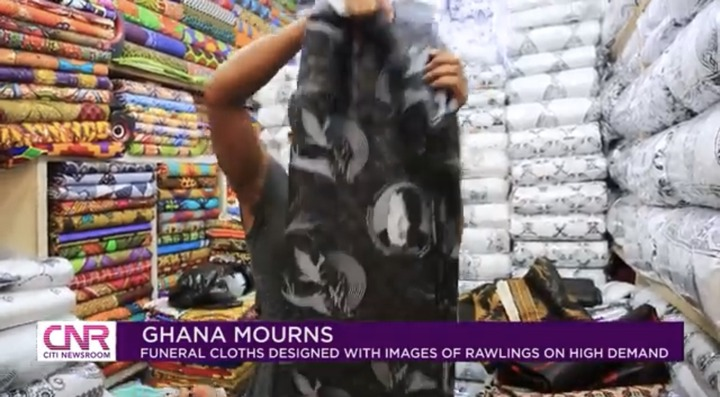 """912f45ff7c474930854ca99d1840100b?quality=uhq&resize=720 - """"Ghana Mourns"""": Funeral Cloths With JJ Rawlings Image In High Demand In Ghana"""