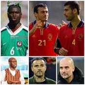 Throwback Photos Of Luis Enrique, Guardiola And Taribo West As Players For Their National Teams