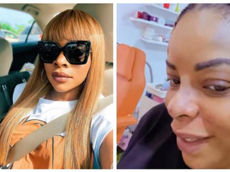 Laura Ikeji Excited As She Flaunts Her New Nose After Undergoing Plastic Surgery (Photos)
