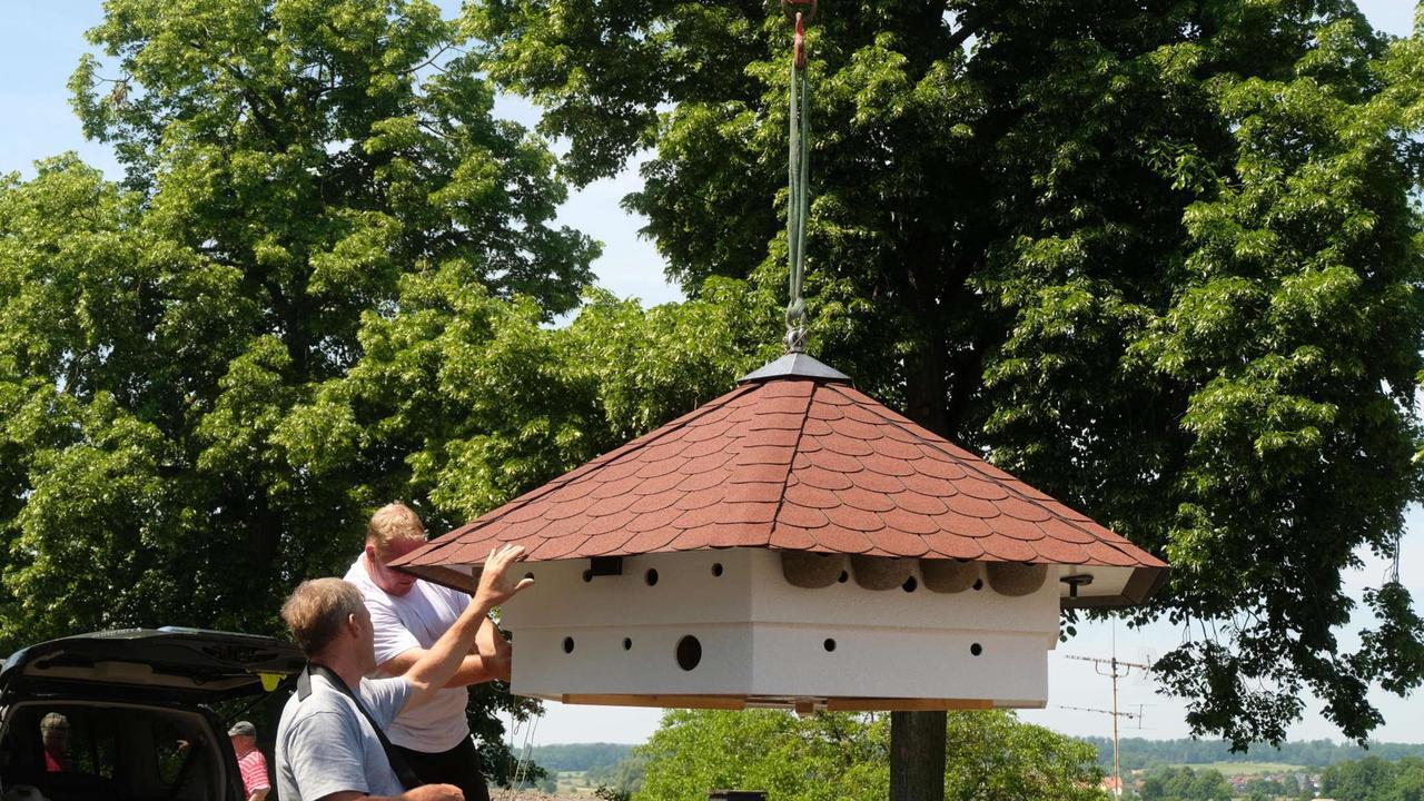 Artenschutzhaus in Ober-Bessingen aufgestellt