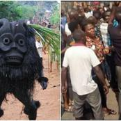 Angry Nigerian Youths Beats Pastor To Coma For Refusing To Allow Masquerade In Church