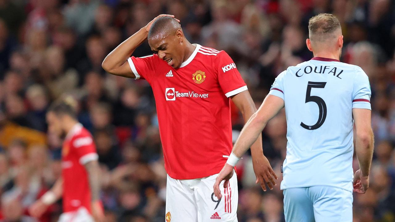 I have rarely seen a Man Utd player look less interested than Anthony Martial