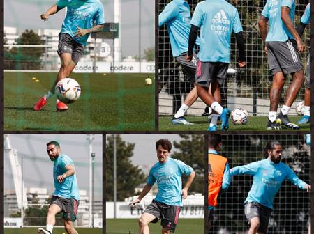 Good News For Real Madrid as Three of their Injured players return to Training