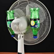 Put Ice Cubes Or A Wet Cloth In front Of Your Fan And This Is What Will Happen