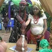 Igbo people reacts after a pregnant woman was spotted doing traditional marriage