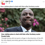 New Details Emerging On How Ruto Will Be Finally Removed From Jubilee Party.