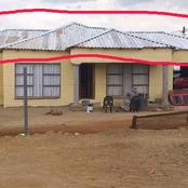 Limpopo man shared photos of his house but Mzansi makes fun of his drive thru and roofing, See photo