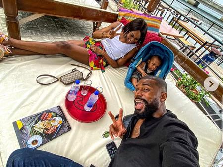 BBNaija's Mike Edwards Enjoys Family Cruise With His Wife And Son On Sunday