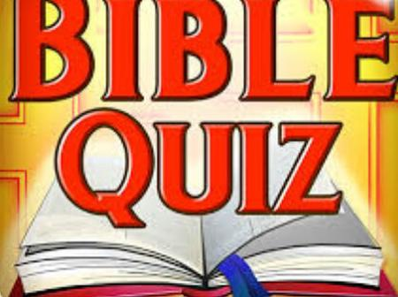 Get some fun by answering these questions without opening your Bible