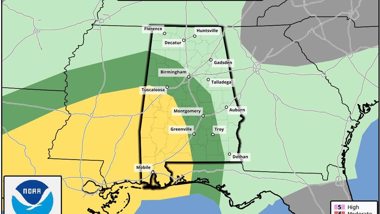 Severe weather possible in Alabama on New Year's Eve