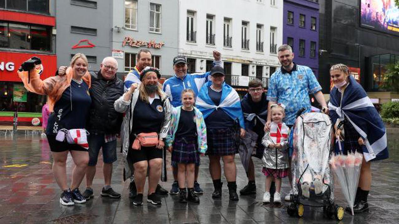 In Pictures: Fans get the party started ahead of England-Scotland Euros clash