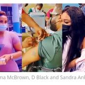 Ghanaian celebrities get vaccine before health workers, Bridget Otoo refuses to be vaccinated