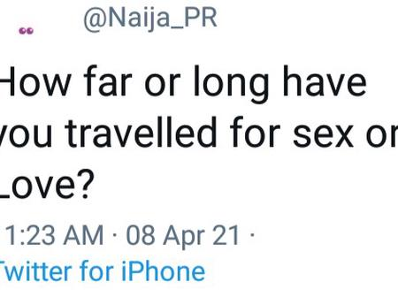 Some Nigerians Are Sharing Their Experience On How Far They Had Traveled For Love