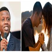 Today: Pastor Adeboye Gives Reasons You Should be Praying with Your Spouse More Often than Others
