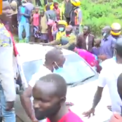 Woman Narrowly Escapes Death After Car Veers Off The Road (Video)