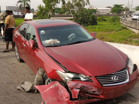 People react as LASTMA says accident between high capacity bus and Lexus car is