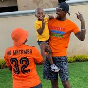 Linda Mntambo leaves his fans speechless with his recent picture with his wife and son.