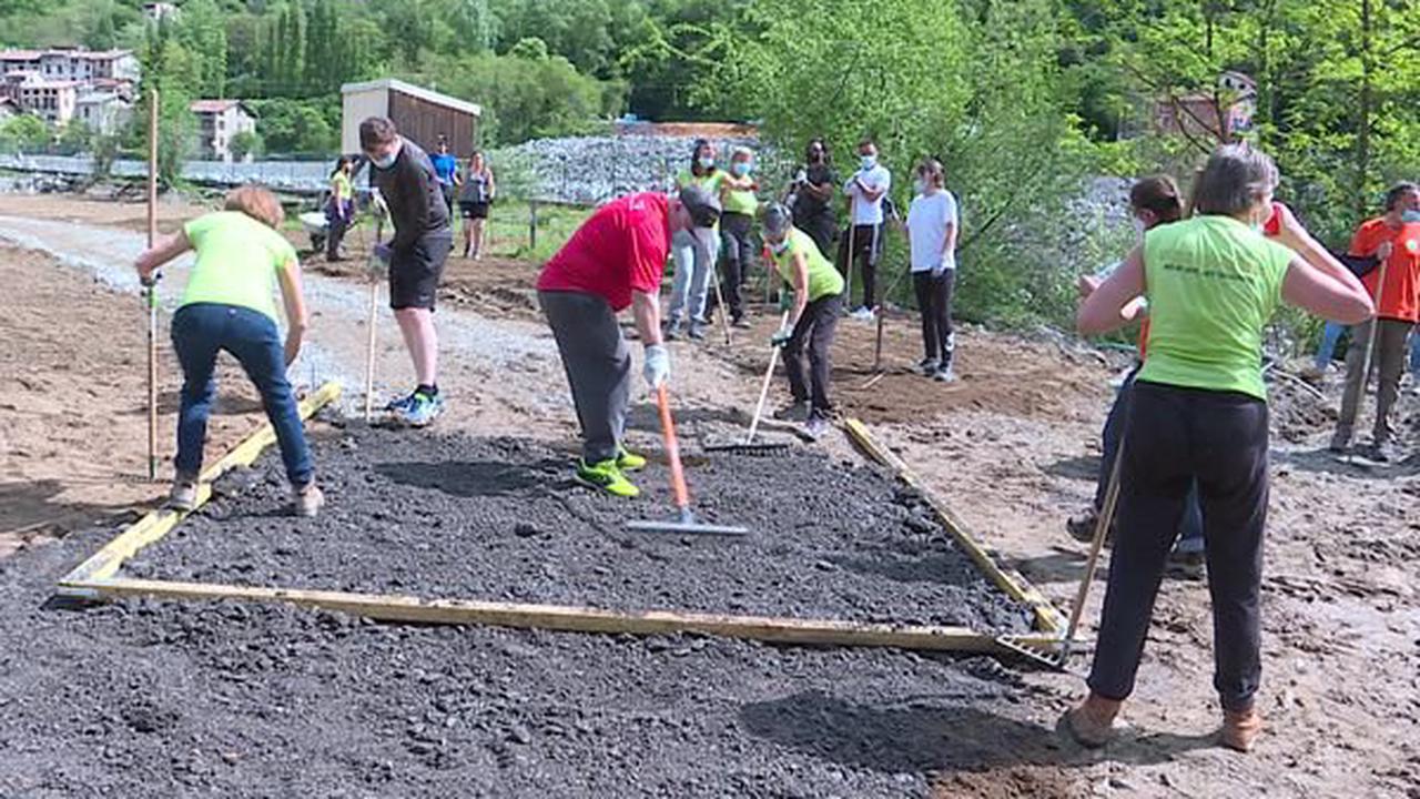 Alpes-Maritimes : Week-ends solidaires, dernier chantier avant l'ouverture du camping de Roquebilière