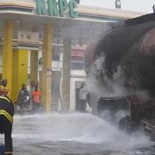 Another major disaster averted as tanker catches fire in Ogun petrol station {VIDEO& PHOTOS}