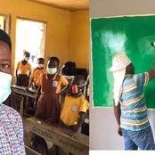 Teacher Repainted His Classroom With His Money To Make Teaching & Learning Attractive For His Pupils