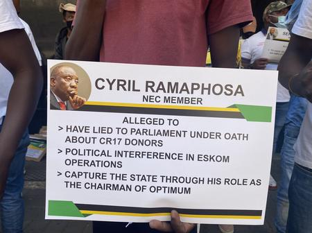 IN PICS: President Cyril Ramaphosa And Other ANC Leaders In Trouble. See Why