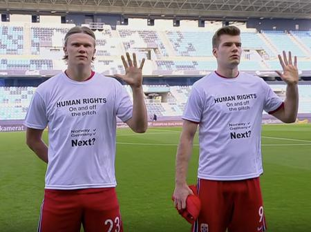 Here Is The Reason Why Norway Wore The Human Rights White Shirt Before The Match Against Turkey