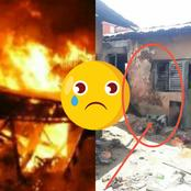 Sad:Pregnant Woman With Her Two Children And Husband Reportedly Killed By Fire At Amansie Aponoapo