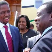 President ED Mnangagwa Donated money to Zambia for development while his country is struggling.