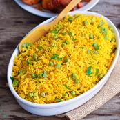 See How To Prepare Very Delicious Tumeric Rice