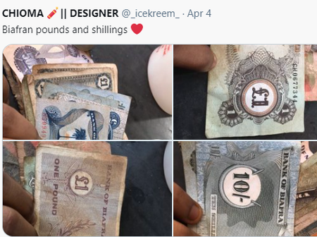 Check out how neat this old Biafrian currency looks after so many years