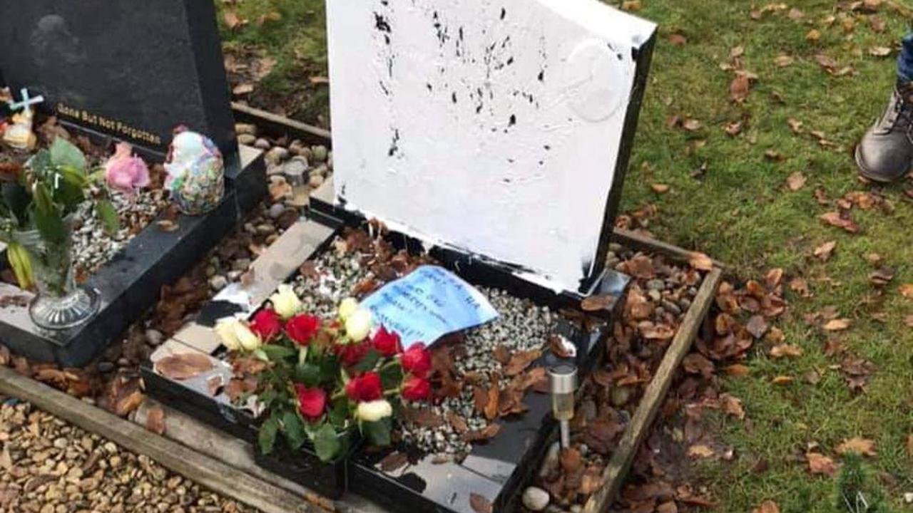 Woman jailed after vandalising diabetic man's grave and leaving cruel note