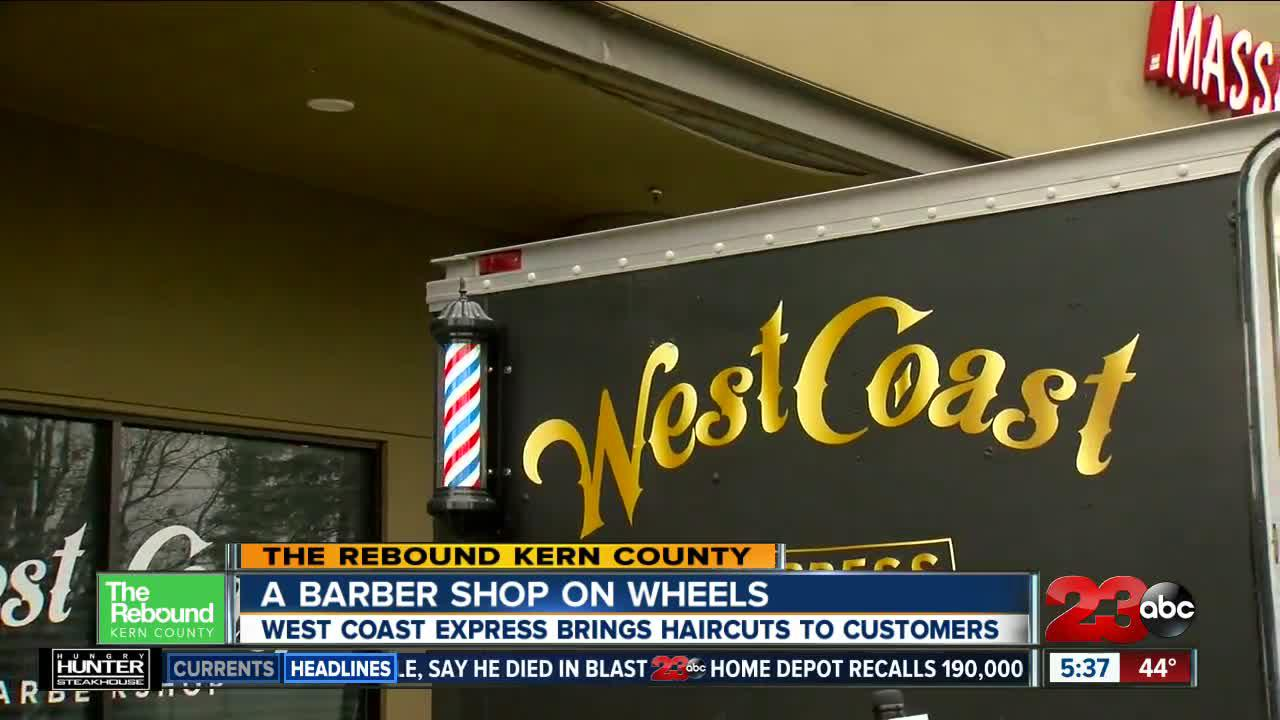 West Coast Barber shop goes the 'extra mile' during the pandemic with a barber shop on wheels