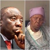 Old woman wants Ramaphosa to d.i.e