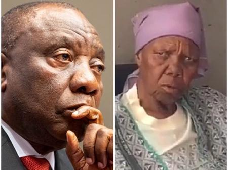 Old woman wants Ramaphosa to d.i.e