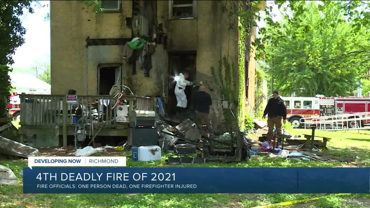 Officials ID man killed in Richmond house fire that injured firefighter
