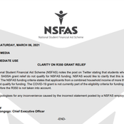 Just In |NSFAS Apologise For Misleading Information