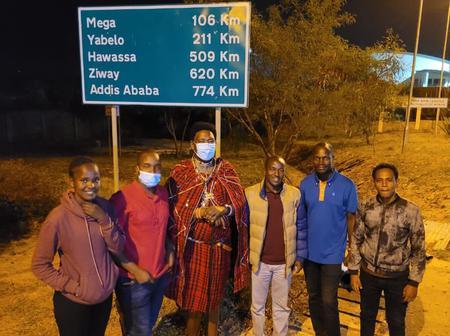 Senator Ledama Olekina Pays A Visit To The Youths Of Moyale