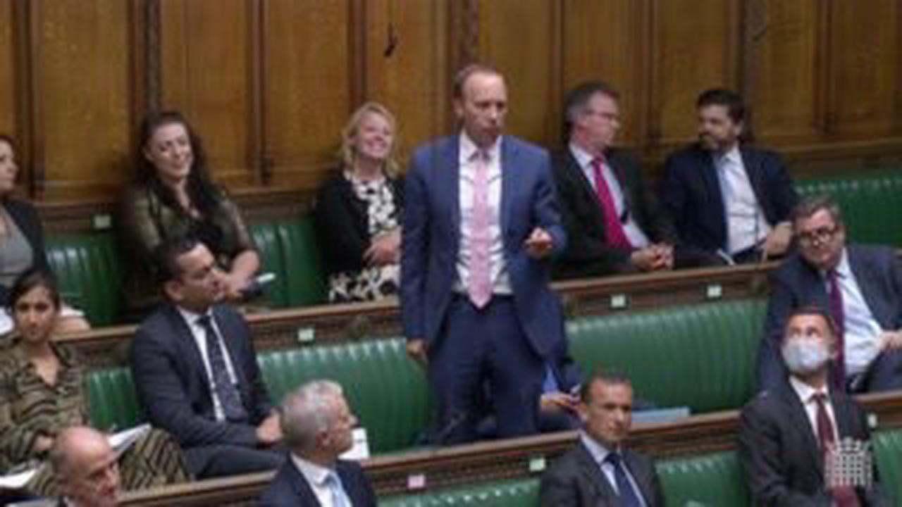 Matt Hancock heckled in Commons return as MPs erupt with laughter at disgraced ex-minister