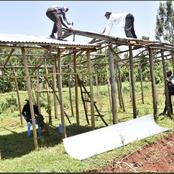 Ruto's Ally Congratulates His team for Constructing New Houses for his Constitutes (Photos)