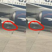 See What This Man Was Spotted Doing Under A Plane That Is Causing Reactions On Social Media (PHOTOS)