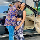 Newly Wedded Actress Poses In Lovely Outfit As She Shares A Kiss With Her Husband