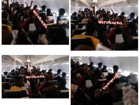 Checkout What Nigerians Did In Enugu After The Airplane Doors Were Shut And The AC Were Off(Video)