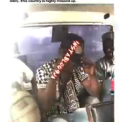 Vidoe: Lady Slaps A Man She Alleged Was Molesting Her In A Bus In Lagos
