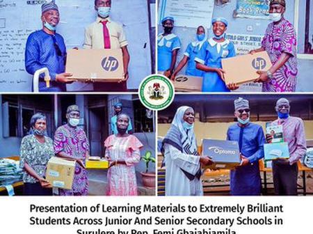 What Femi Gbajabiamila Gave To 494 Brilliant Students In Surulere