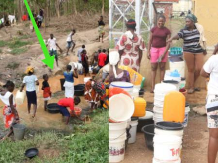 After photos of Nigerians suffering to get water surfaced online, see how people reacted